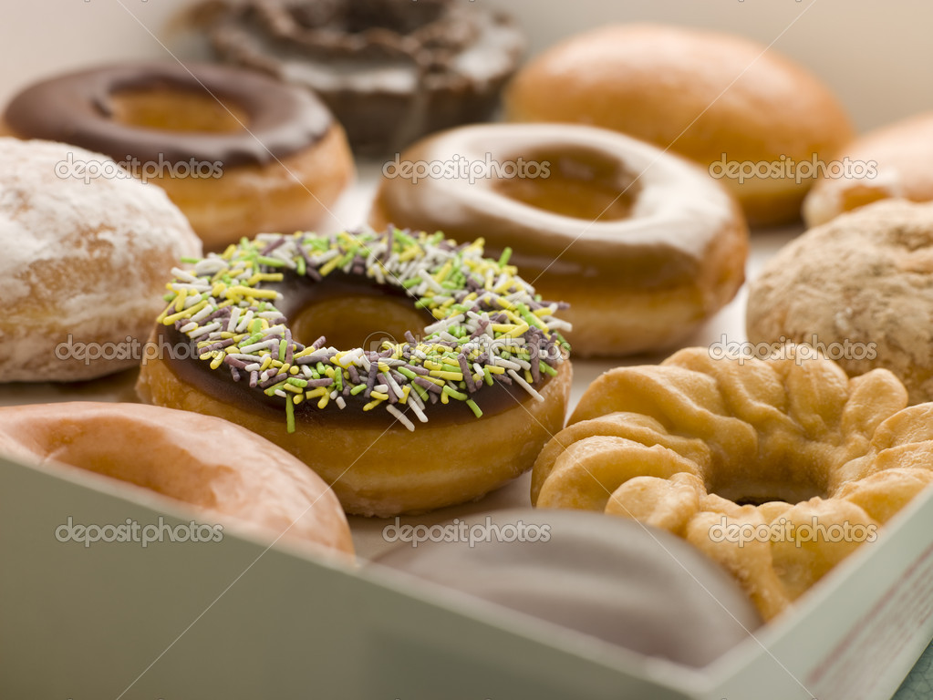 Selection Of Doughnuts In A Tray  Stock Photo #4777520