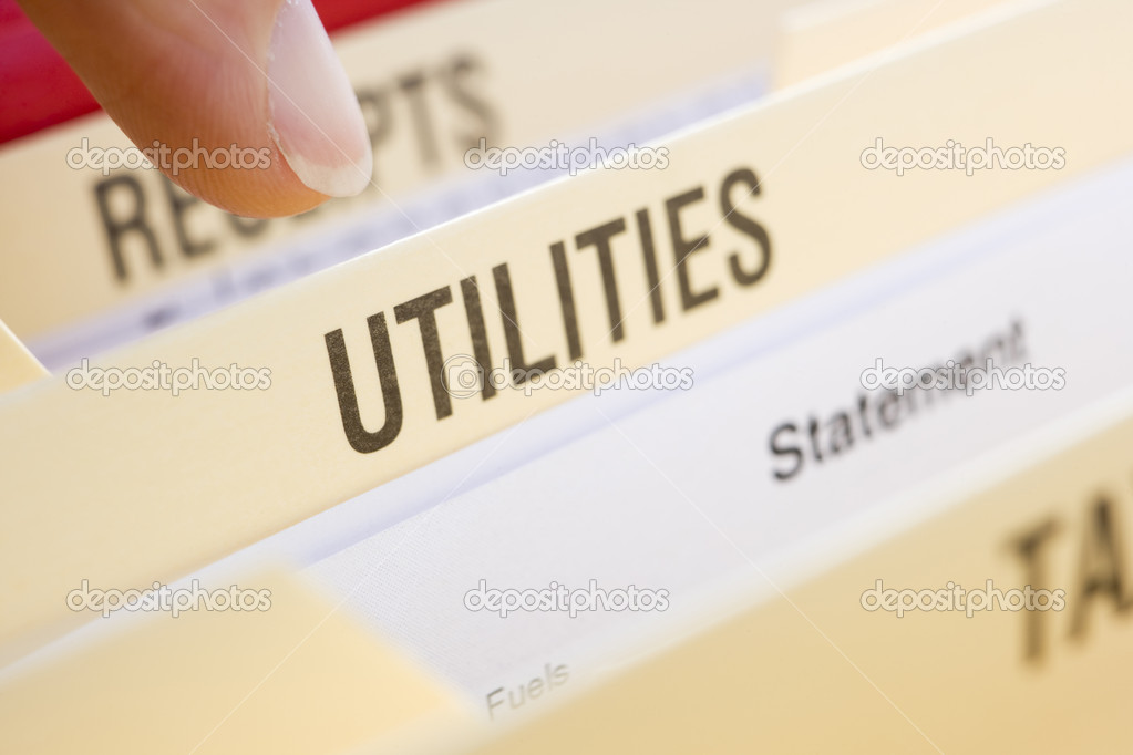Files Containing Utility Bills — Stock Photo #4778488