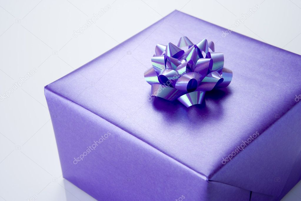 Purple Present  Stock Photo #4778921