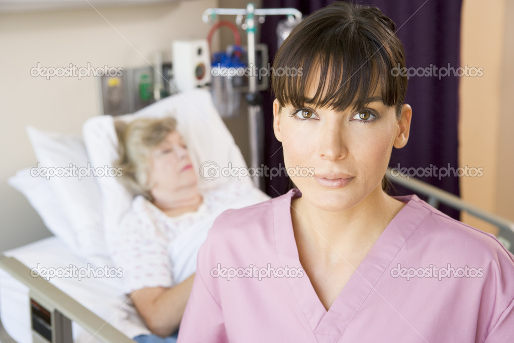 Nurse Standing In Patients Room — Stock Photo #4779525