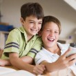 Two Young Boys Doing Their Homework Together — Stock Photo #4780249