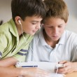 Two Young Boys Doing Their Homework Together — Stock Photo #4780254