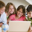 Group Of Young Children Doing Their Homework — Stock Photo #4780266