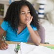 Young Girl Doing Homework — Stock Photo #4780287