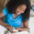 Young Girl Doing Homework — Stock Photo