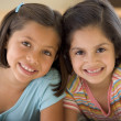 Portrait Of Two Young Girls — Stock Photo #4780440