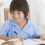 Boy Doing His Homework — Stock Photo