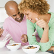 Husband And Wife Eating Breakfast Together — Stock Photo #4780868