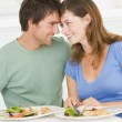 Young Couple Enjoying meal,mealtime Together — Stock Photo #4780933