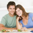 Young Couple Enjoying meal,mealtime Together — Stock Photo #4780934