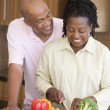 Husband And Wife Preparing A meal,mealtime Together — Stock Photo #4780961