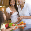 Mother And Daughter Preparing meal,mealtime Together — Stock Photo #4780981