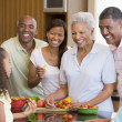 Family Preparing meal,mealtime Together — Stock Photo #4780983