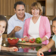 Family Preparing meal,mealtime Together — Stock Photo #4781006