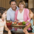 Family Preparing meal,mealtime Together - Stock Photo