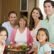 Stock Photo: Family Preparing meal
