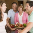 Family Preparing meal,mealtime Together — Stock Photo #4781009