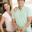 Husband And Wife Preparing meal,mealtime Together — Foto de Stock