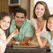 Family Preparing meal,mealtime Together — Stock Photo #4781025
