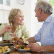 Elderly Couple Enjoying meal,mealtime Together — Stockfoto