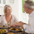 Elderly Couple Enjoying meal,mealtime Together — Stock Photo