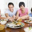 Family Enjoying meal,mealtime Together — Stock Photo #4781095