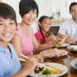 Stock Photo: Family Eating A meal,mealtime Together