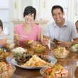 Family Enjoying meal,mealtime Together — Stock Photo #4781120