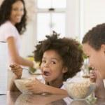 Children Eating Breakfast — Stock Photo