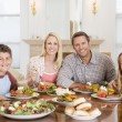 Family Enjoying meal,mealtime Together — Stock Photo #4781197