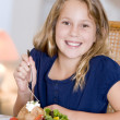 Young Girl Eating meal,mealtime - Foto de Stock  
