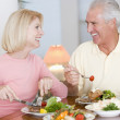 Elderly Couple Enjoying Healthy meal,mealtime Together — Stock Photo