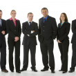 Group Of Business Standing In A Line — Stock Photo