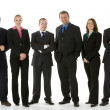 Group Of Business Standing In A Line - Stock Photo