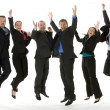 Stock Photo: Group Of Business Jumping In The Air