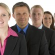 Group Of Business In A Line Smiling — Stock Photo #4781587