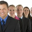 Group Of Business In A Line Smiling — Stock Photo