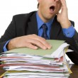 Businessman Overwhelmed By Paperwork — Stok fotoğraf