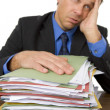 Businessman Overwhelmed By Paperwork — 图库照片