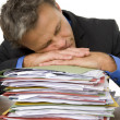 Businessman Overwhelmed By Paperwork — Stock fotografie