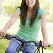 Teenage Girl On Bicycle — Stock Photo