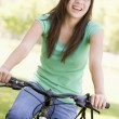Royalty-Free Stock Photo: Teenage Girl On Bicycle