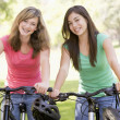 Stock Photo: Teenagers On Bikes
