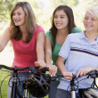 Foto Stock: Teenagers On Bicycles