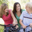 Teenagers On Bicycles - Stock Photo