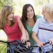 Teenagers On Bicycles — Stock Photo
