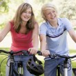 Teenage Boy And Girl On Bicycles — Stock Photo