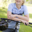 Teenage Boy On Bicycle — Stock Photo