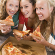 Teenage Girls Eating Pizza — Stock Photo #4782300