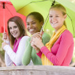 Portrait Of A Group Of Teenage Girls - Stock Photo